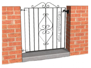 single wrought iron ped gate