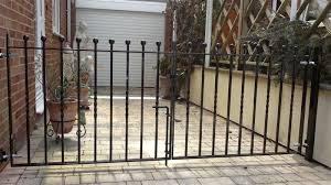 driveway black double gates